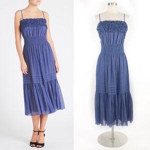 Rebecca Taylor   Lurex Stripe Midi Tank Dress